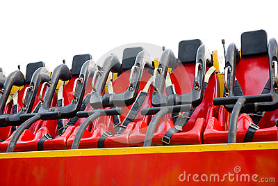 Seats in amusement park