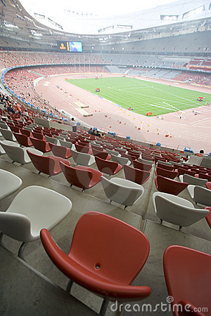 Seats at the Beijing Olympic Stadium Editorial Stock Image
