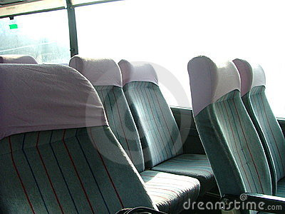 Seats in a bus