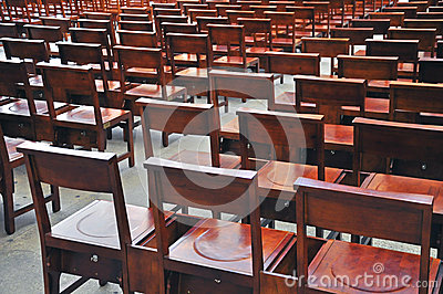Seats in the church