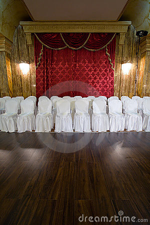 Seats at concert salon
