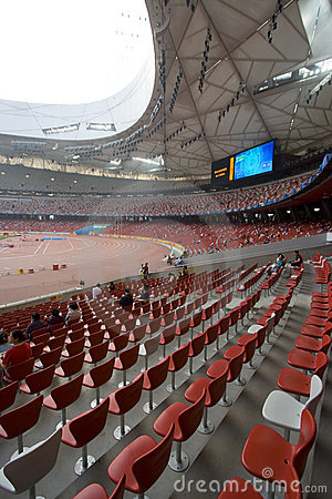 Seats at the Olympic Stadium Editorial Stock Photo