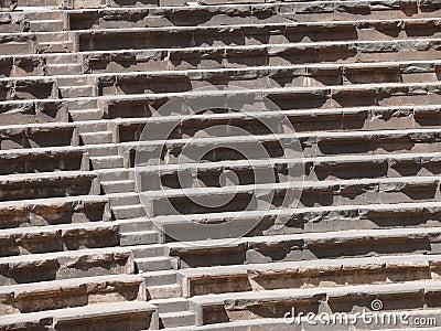 Seats rows Amphitheatre Bosra