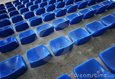 Seats in stadium
