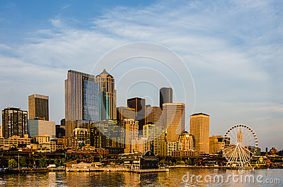 Seattle City Skyline Editorial Stock Image