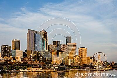 Seattle City Skyline Editorial Stock Image