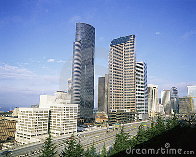 Seattle cityscape Editorial Stock Photo