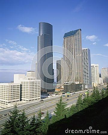 Seattle cityscape Editorial Photo