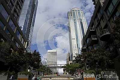 Seattle céntrica Foto de archivo editorial