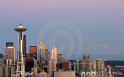 Seattle at dawn