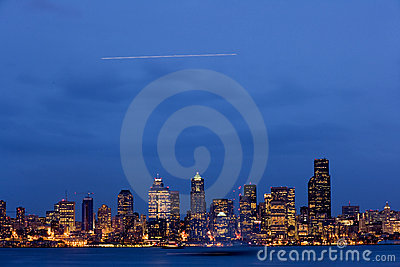 Seattle dusk skyline