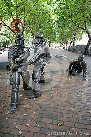 Seattle Fallen Firefighters' Memorial Editorial Photography