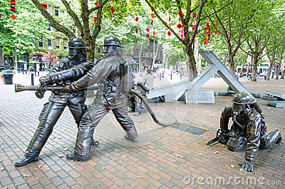 Seattle Fallen Firefighters' Memorial Editorial Photo