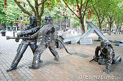 Seattle Fallen Firefighters' Memorial Editorial Photo
