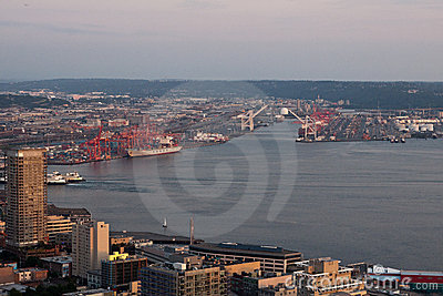 Seattle Harbour Editorial Stock Image