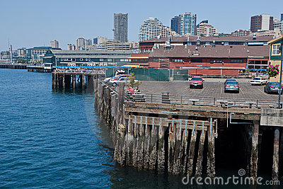 Seattle Harbour and Downtown Editorial Image