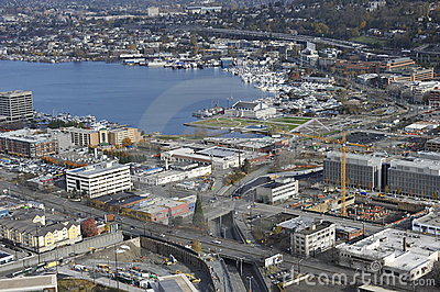 Seattle, Lake Union Editorial Stock Photo