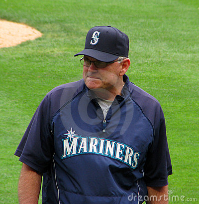 Seattle Mariner Baseball Coach Editorial Stock Image