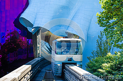 Seattle Monorail Editorial Photo