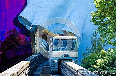 Seattle Monorail Editorial Photo