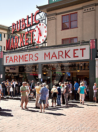 Seattle - Pike Place Public Market Editorial Image