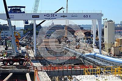 Seattle profundamente agujerea proyecto del túnel Foto de archivo editorial