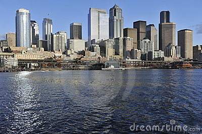 Seattle Skyline Editorial Photography