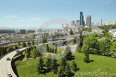 Seattle Skyline and Freeways