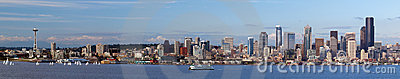 Seattle skyline panorama Editorial Photo