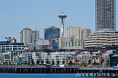 Seattle Skyline and Space Needle Editorial Image