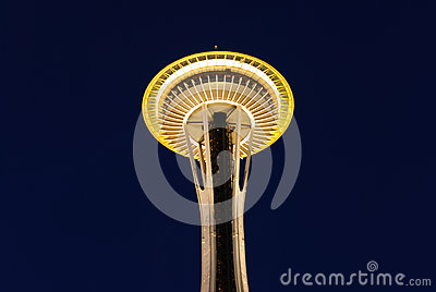 Seattle Space Needle at Dawn Editorial Image
