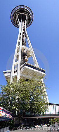 Seattle Space Needle - Looking Up! Editorial Stock Photo