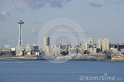 Seattle city skyline with Space Needle