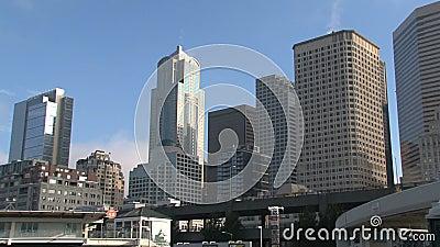 Seattle van de binnenstad, Verenigde Staten stock footage