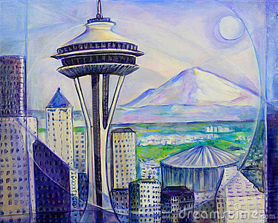 Seattle Washington Painting