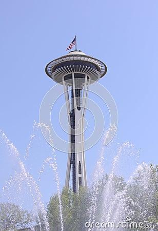 Seattles spaceneedle sprinkler
