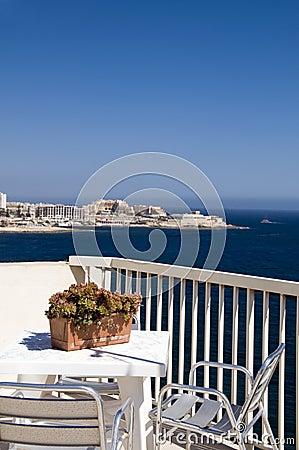 Free Seaview Cafe Mediterranean Sliema Malta Stock Photography - 5867962