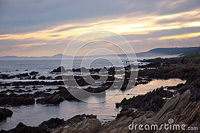 Seaview coastline at sunset in Port Elizabeth