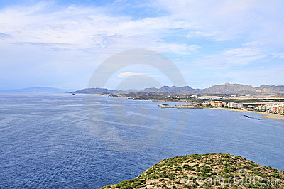 Seaview from fortress Aguilas
