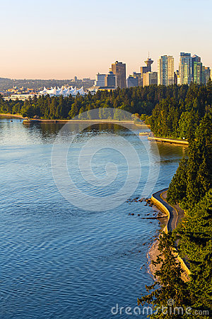 Free Seawall Along Stanley Park In Vancouver BC Canada Royalty Free Stock Images - 95747679