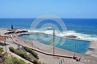 Seawater Swimming Pool In Bajamar Tenerife Spain Editorial Stock Image Image 20243094