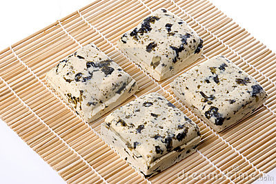 Seaweed Organic Tofu Isolated