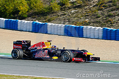 Sebastian Vettel of Red Bull Racing team Editorial Stock Image