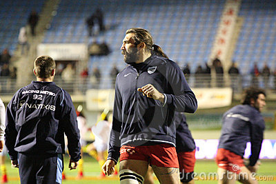 Sebastien Chabal of Racing 92 Editorial Image