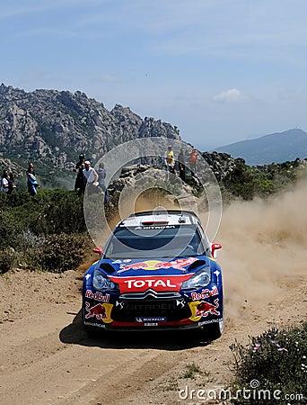 Sebastien Loeb, rally Italia Sardegna Editorial Stock Photo