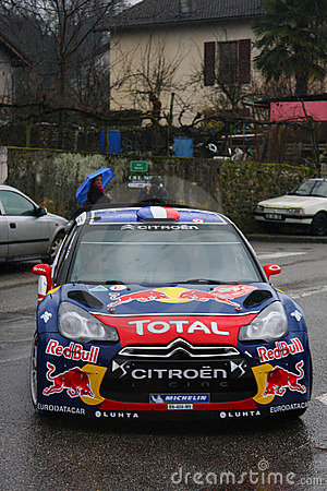 Sebastien Loeb wins Monte Carlo Rally Editorial Image