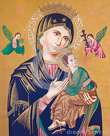 Free SEBECHLEBY, SLOVAKIA - Image Of Madonna With The Child Jesus, By Unknown Painter. Royalty Free Stock Photo - 68681965