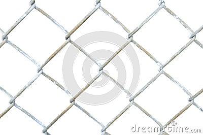 Sección de la cerca de la conexión de cadena