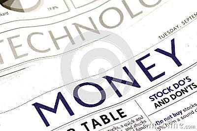 Sección del dinero