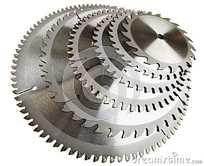 Sechs Platten für sind scharfes Holz